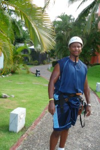 Ready to hit the zip line!